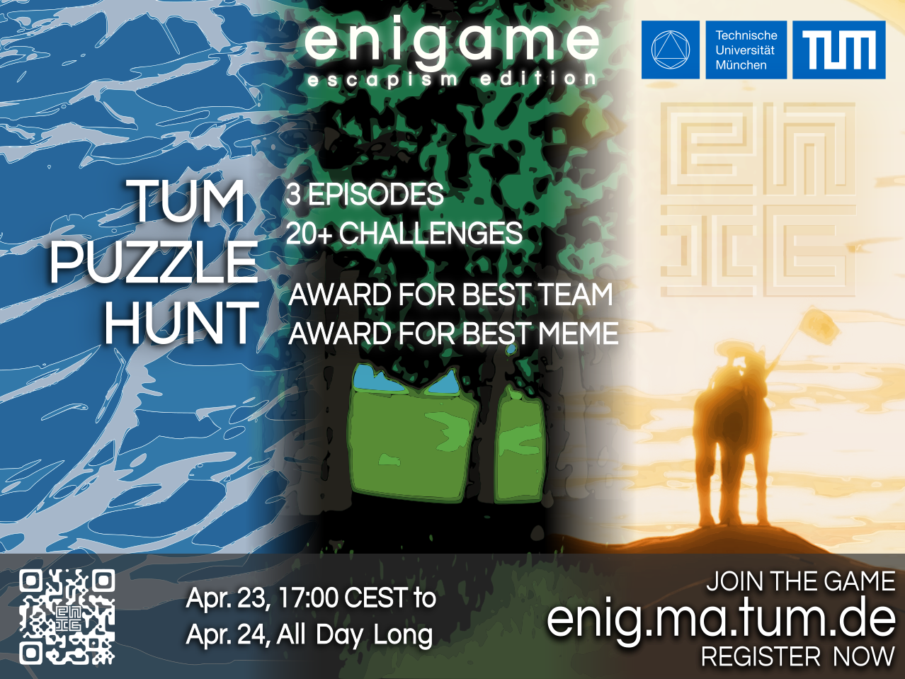 enigame - escapism edition: Flyer