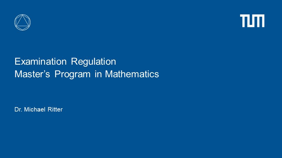 Introduction to Examination Regulations