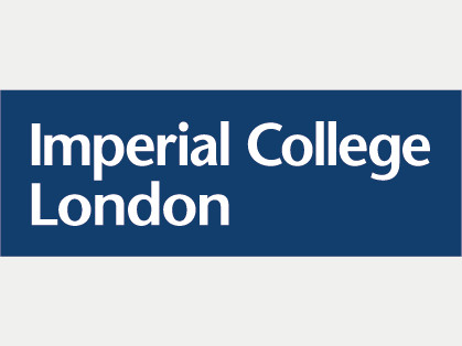 Imperial College London Logo, blau auf weiß