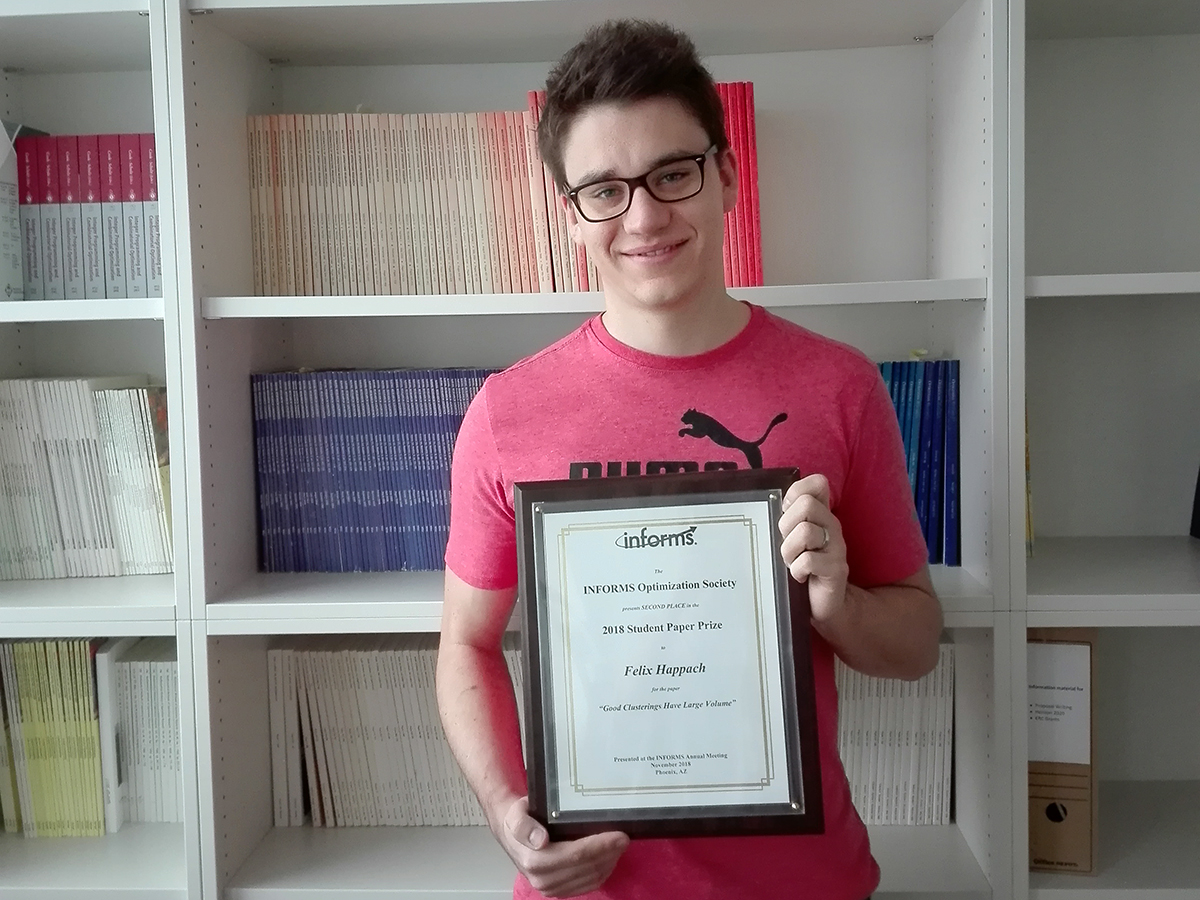 Felix Happach wins INFORMS Optimization Society Student Prize 2018